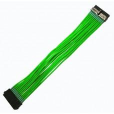 Удлинитель Nanoxia 24-pin ATX, 30см, индивидуальная оплетка, зеленый