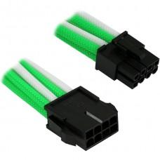 Удлинитель Nanoxia 8-pin EPS, 30см, индивидуальная оплетка, зеленый/белый