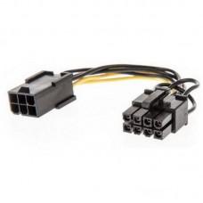 Переходник питания 6 pin to 8 pin GPU power adapter cable
