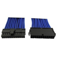 Удлинитель GELID 24-pin ATX, 30см, индивидуальная оплетка, синий CA-24P-03