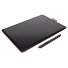 One by Wacom Medium (CTL-672-N) Black/Red USB