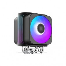 Кулер для процессора  PCCooler GI-D66A HALO RGB LGA2066/2011/1366/115x/775/AM4/3/3+/2/2+/FM1/2/2+ (12 шт/кор, TDP 230W, Dual 120mm PWM VortexPro RGB FAN, 6 тепловых т