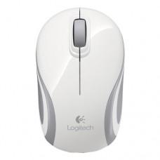 Logitech M187 Wireless Mini Mouse, White USB