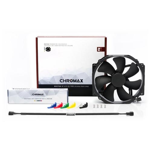 Вентилятор 14 Noctua NF-A15 HS PWM Chromax 140х150х25 мм, 300-1500 об/мин, 25 дБА, PWM, черный