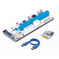 Кабель удлинитель PCI-E Raiser Espada (EPCIeKit03) MOLEX ,SATA, 6pin