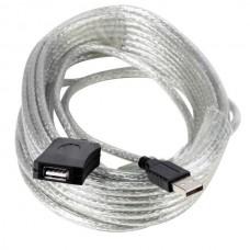 Кабель USB 2.0 удлинитель 10m Aopen (ACU823-10M) активный