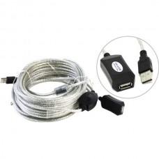 Кабель USB 2.0 удлинитель 15m Aopen (ACU823-15M) активный