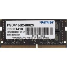 Оперативная память Patriot Memory Signature SO-DIMM DDR4 1x16Gb 2400Mhz (PSD416G24002S)