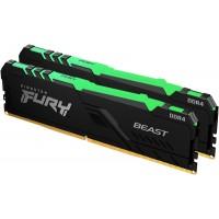 Оперативная память Kingston Fury Beast RGB DDR4 2x16Gb 3200Mhz (KF432C16BB1AK2/32)